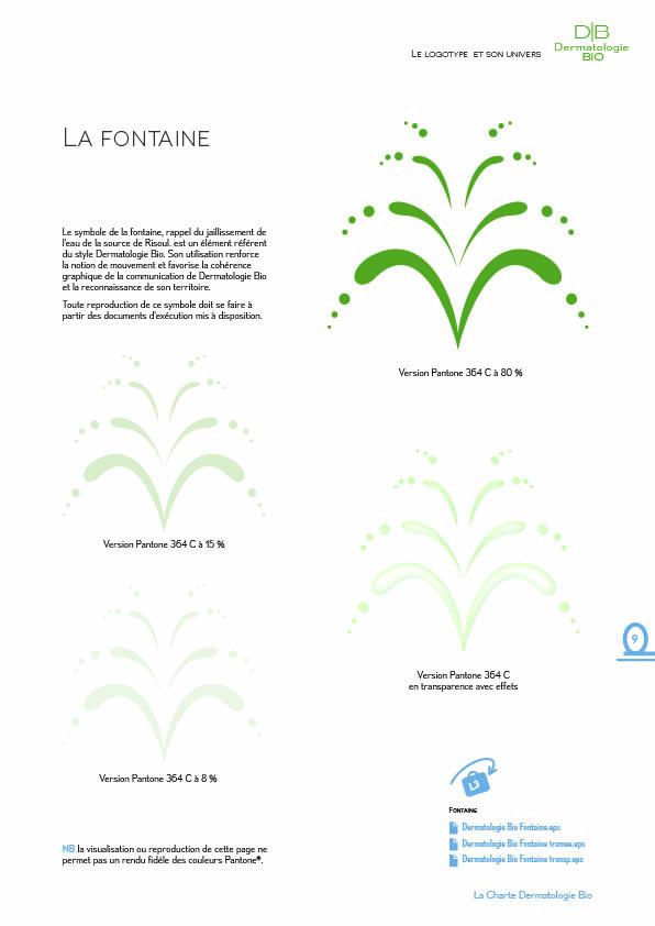 Charte graphique DERMATOLOGIE BIO9